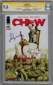 Chew #1 CGC 9.8 Signature Series Signed John Layman Rob Guillory Tony Chu Sketch Image comic